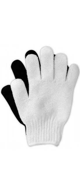 Массажные перчатки из грубой ткани (белые, черные)