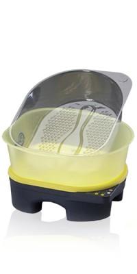 Подставка/нагреватель-массажер для педикюра+Педикюрная ванночка + 5 одноразовых пластиковых вкладышей