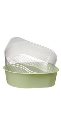 Педикюрная ванночка с одноразовыми пластиковыми вкладышами (20 шт.)