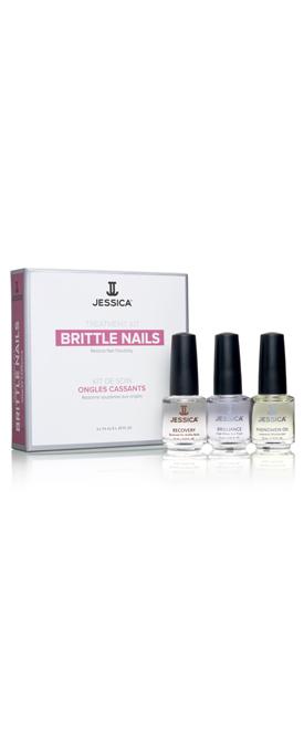 Набор для хрупких ногтей Brittle Nail Kit (Mini) (Recovery + Brilliance + Phenomen Oil)